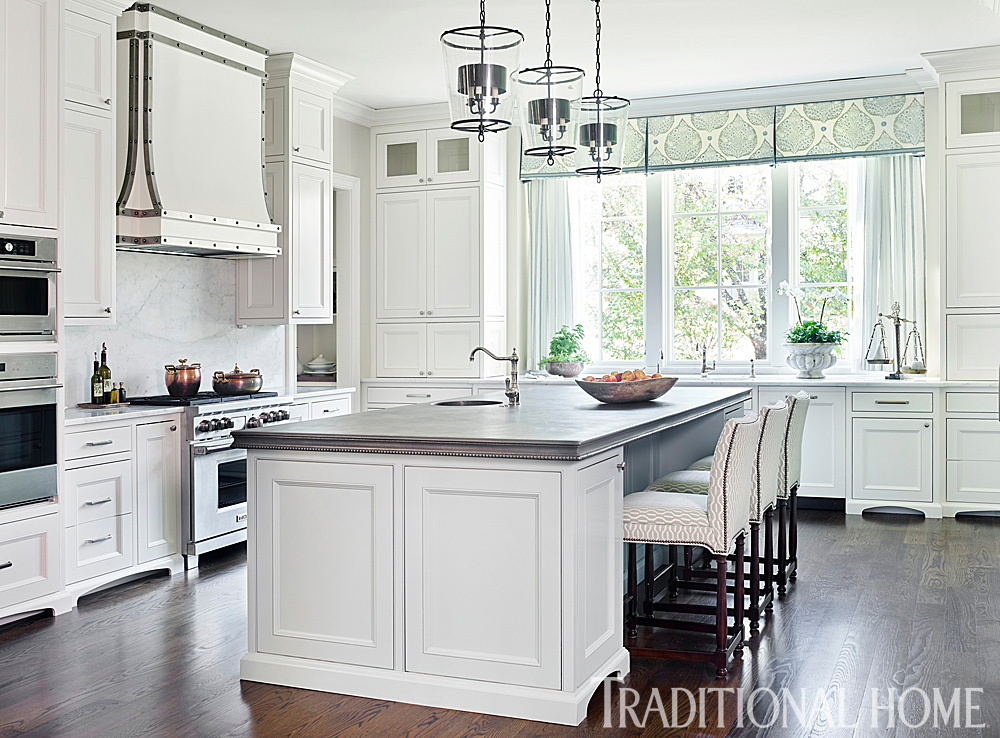Traditional white kitchen painted with sherwin williams for Traditional white kitchens