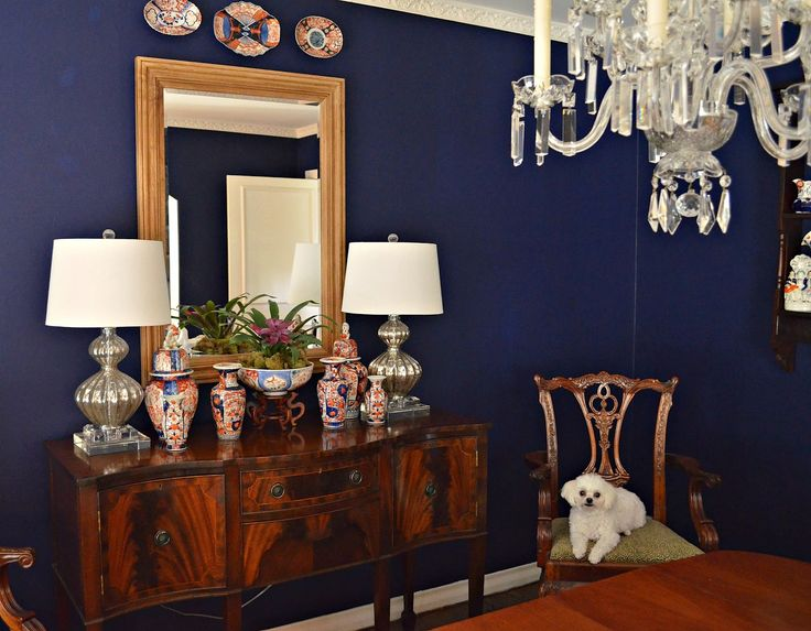 Benjamin Moore Bold Blue is a great choice when you want something dark and moody.