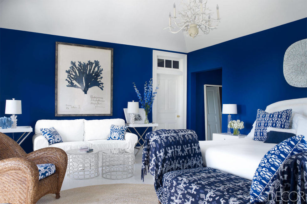 Benjamin Moore Patriot Blue is an amazing bright and vivid blue that is fantastic when combined with pure white.