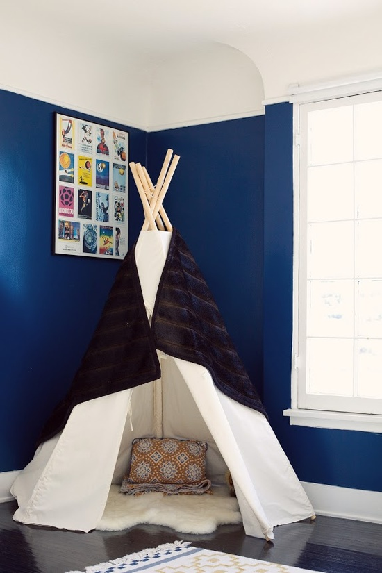 Benjamin Moore Symphony Blue is a great pick for any boys room.