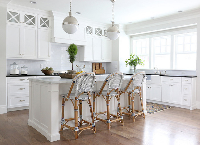 Benjamin Moore's Simply White Kitchen