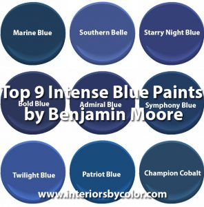 Top 9 Intense Blue Paints By Benjamin Moore Interiors Color