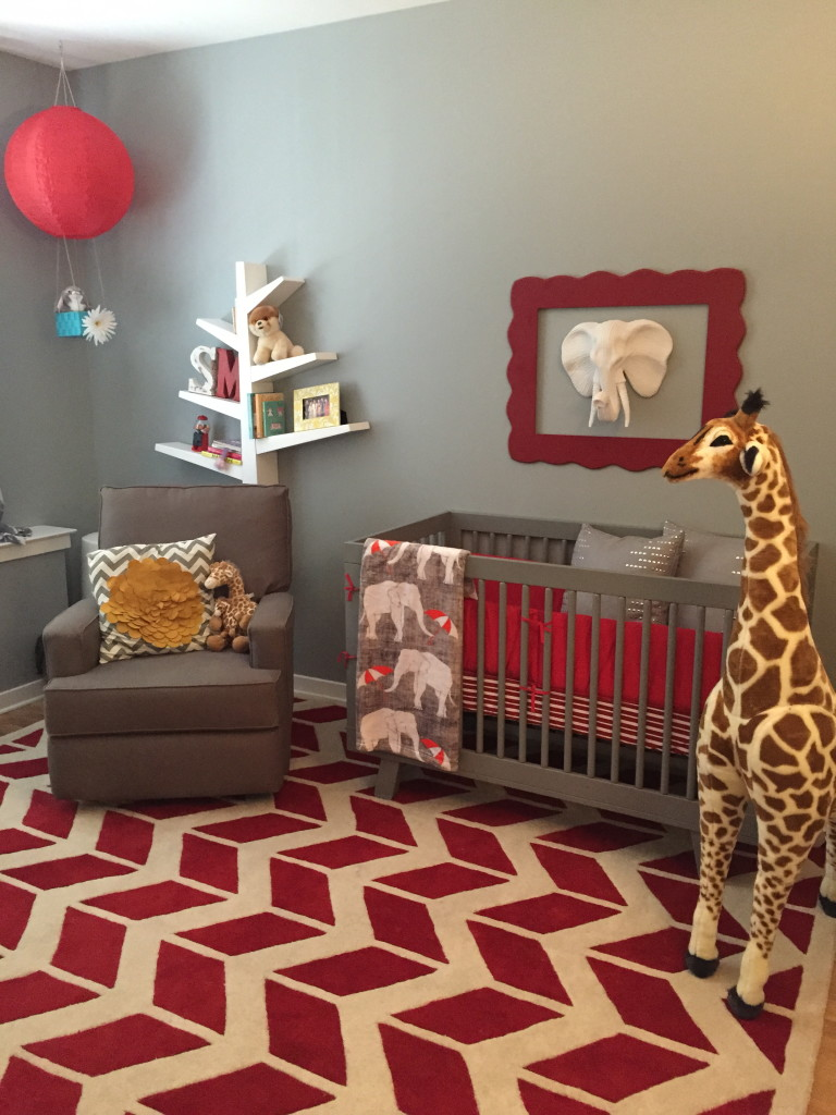 Top 9 Nursery Decorating Ideas in Red and Gray - Interiors ...