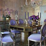 Purple Antique Vintage Dining
