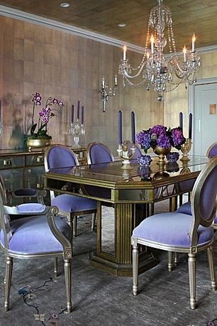 Purple Antique Vintage Dining