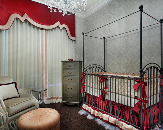 gothic red and gray nursery
