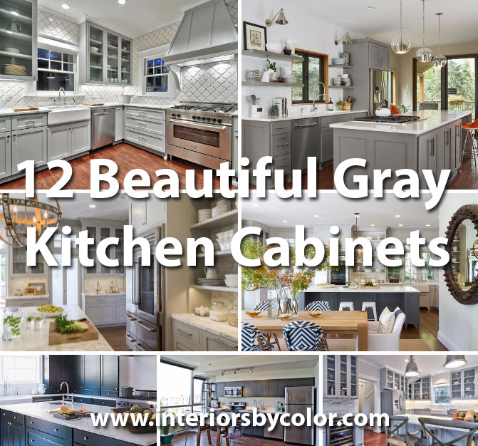 Beautiful Gray Kitchen Cabinets Interiors By Color - Wall color for gray kitchen cabinets