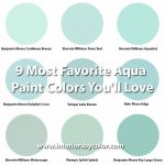 9 Most Favorite Aqua Paint Colors You'll Love http://www.interiorsbycolor.com/