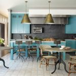 Benjamin Moore's Majestic Blue Kitchen Cabinets