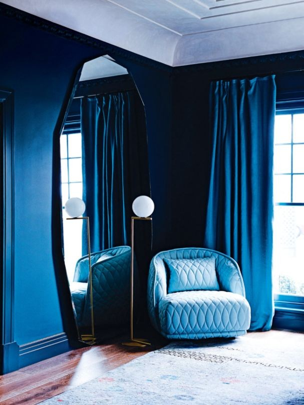 Dulux Celtic Rush blue painted walls