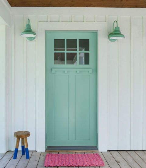 Splish Splash by Olympic front door paint color.