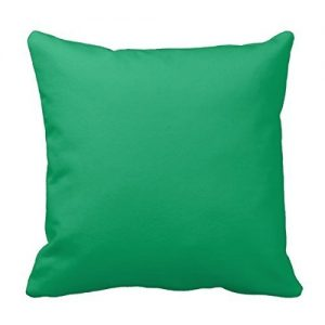 Kelly Green Throw Pillowcase