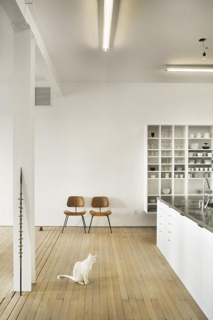 Pratt and Lambert Designer White kitchen. Via Simplicity and Abstraction