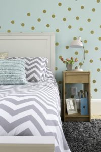 Sherwin Williams Tame Teal Bedroom With Gray Interiors
