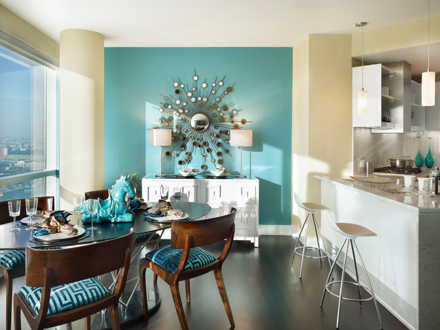 Sherwin Williams Cloudburst Feature Wall