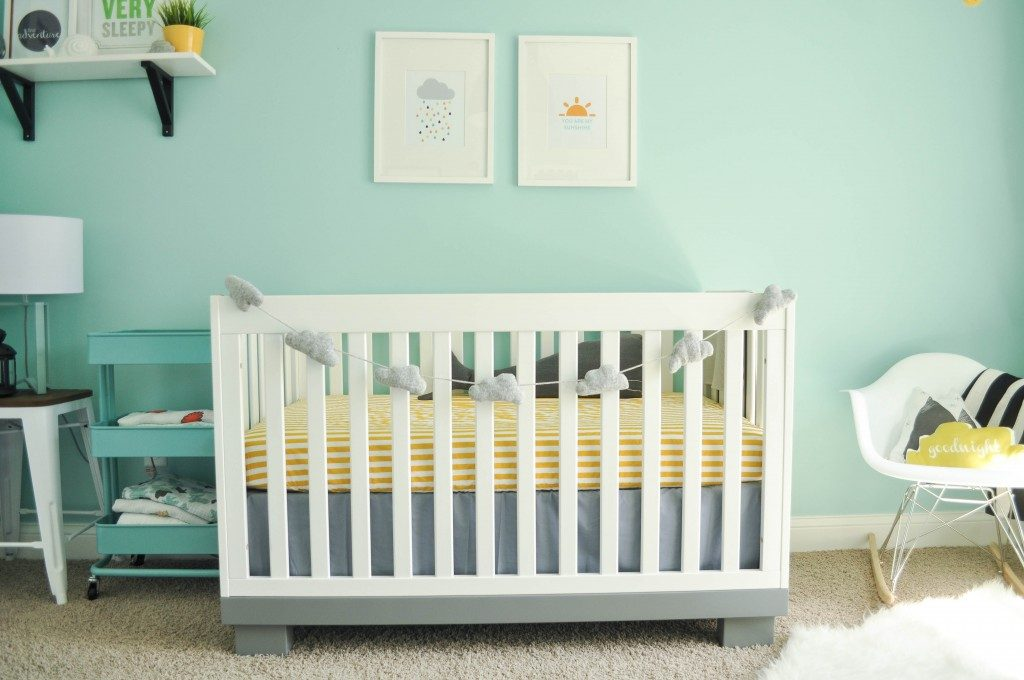 Valspar Lake Breeze  painted nursery