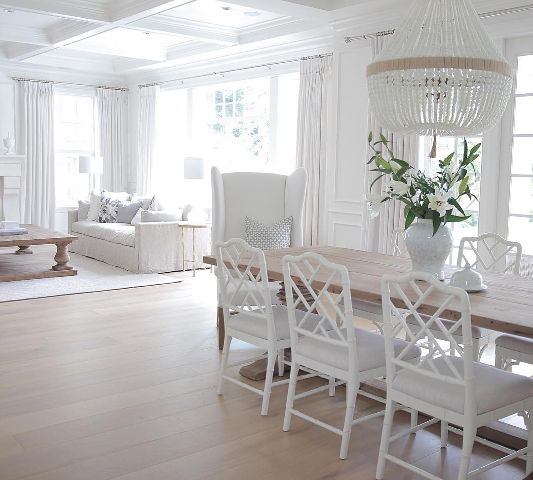 Dining Room Flooring: White Coastal Home Painted In Benjamin Moore's Simply