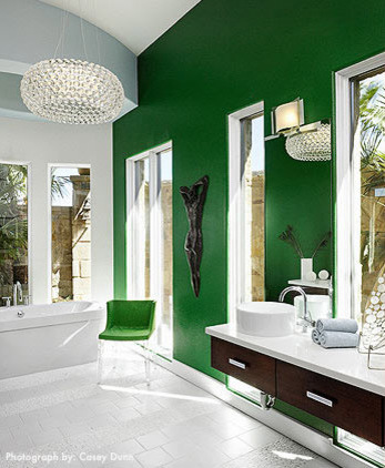 Design ideas for a modern bathroom via Laura Britt Design