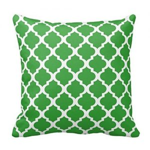 kelly green decorative pillow