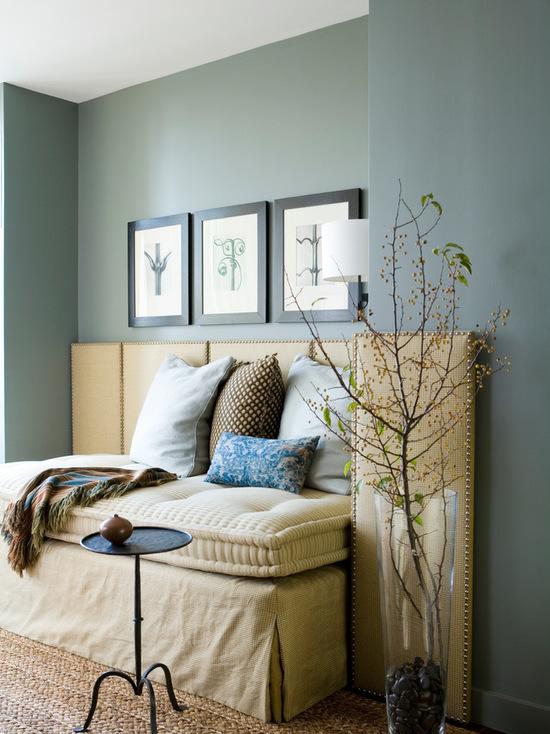 living room in chapel green paint