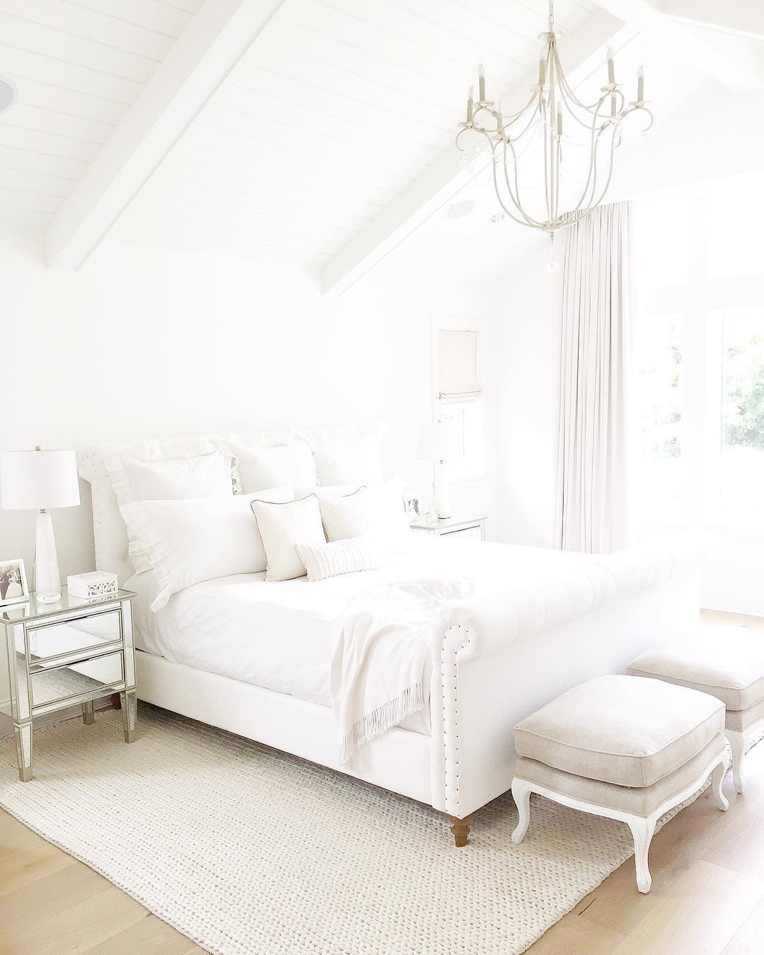 White Coastal Home Painted In Benjamin Moore S Simply