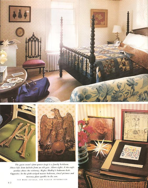 Albert Hadley: his home in Southport CT--guest bedroom