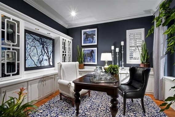 Interiors Painted In Benjamin Moore Deep Royal Blue