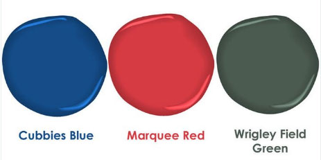 Benjamin Moore Cubs Inspired Paint