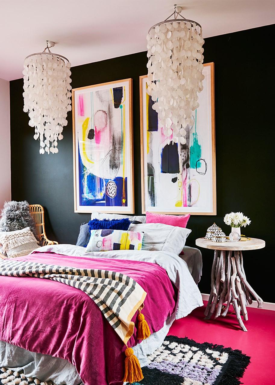 Raspberry Bedroom Floors Painted In Dulux Raspberry Sorbet Interiors By Color
