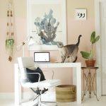 Home Office in Benjamin Moore Precocious