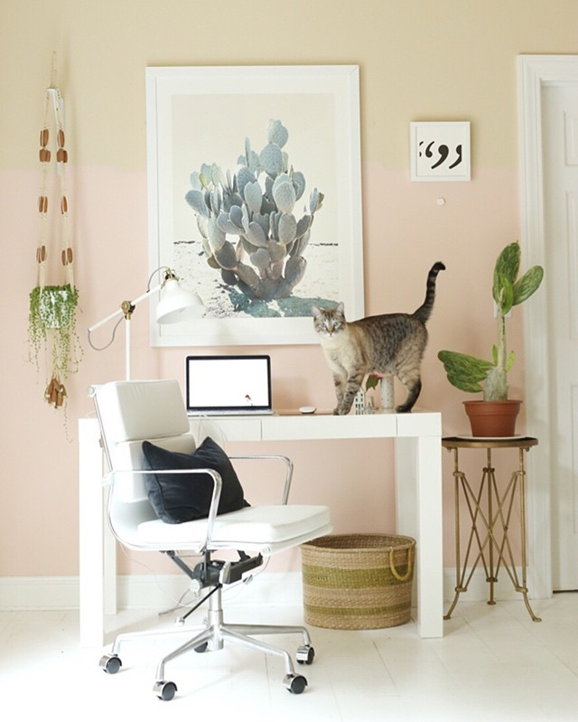 Home Office in Benjamin Moore Precocious