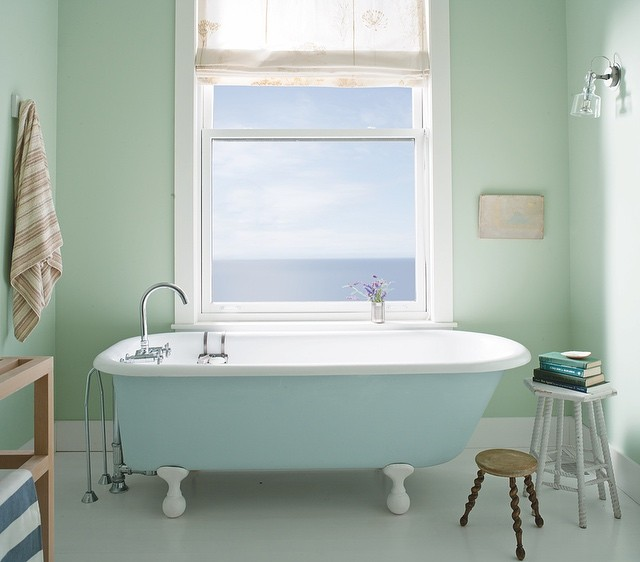 Pastel Bathroom in Palladian Blue & Breath of Fresh Air