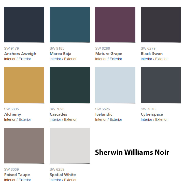 color forecasts 2017 by sherwin williams interiors by color. Black Bedroom Furniture Sets. Home Design Ideas
