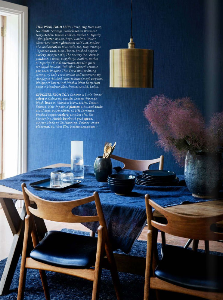 Midnight Express Colour Your Home In Indigo Interiors