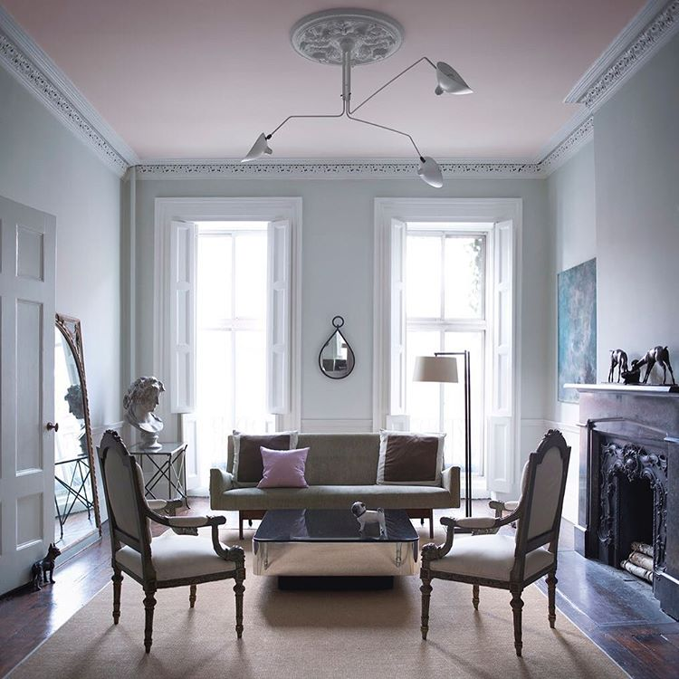 Pink and grey interiors by color 20 interior decorating - Benjamin moore stonington gray living room ...