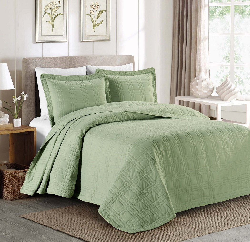 Top 5 Green Bedspreads You'll Love - Interiors By Color