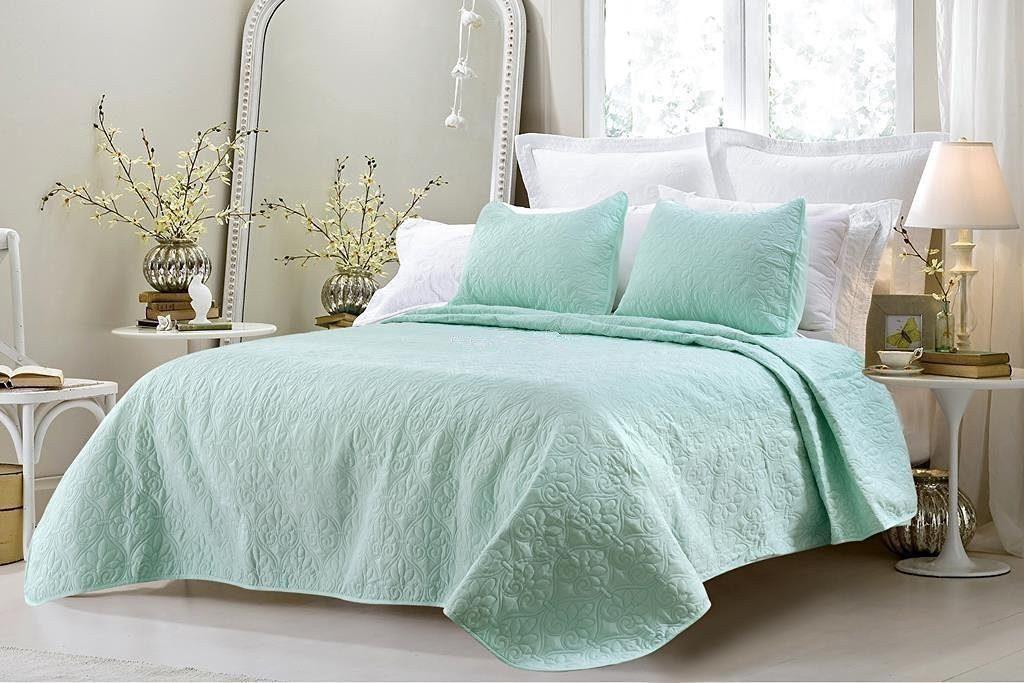 mint green comforter