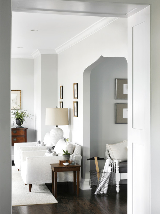 Walls painted in Benjamin Moore's Gray Owl by CCG Interiors, LLC.