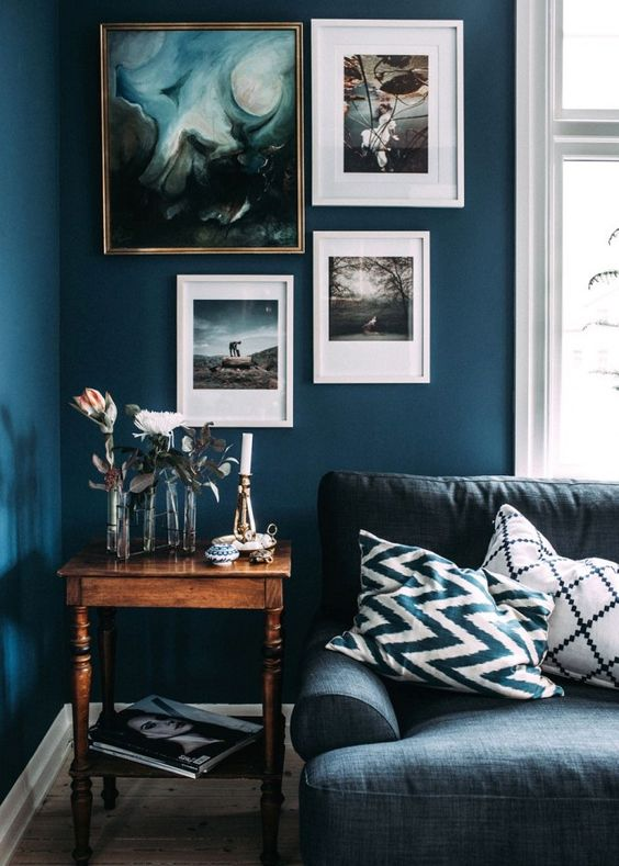 9 Interior Decor Living Rooms in Moody Blue - Interiors By ...