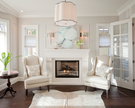 Benjamin Moore's Balboa Mist 1549 with trim in White Dove OC-17 by PURE Design Inc