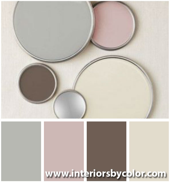 Easrth neutrals with pink http://www.interiorsbycolor.com/