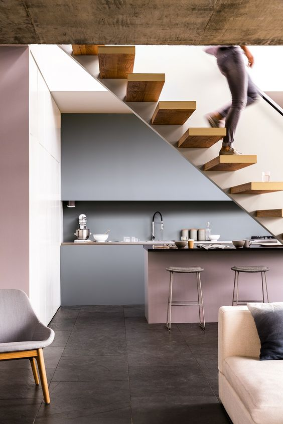 pink-and-gray-kitchen