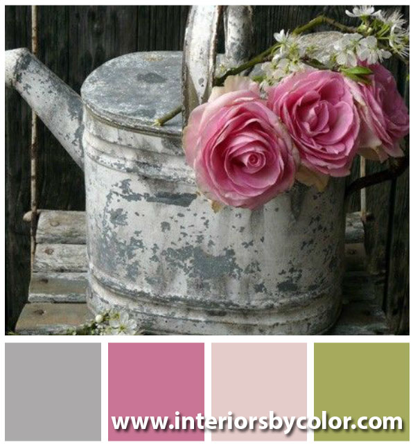 Pink and Gray Color Palettes http://www.interiorsbycolor.com/