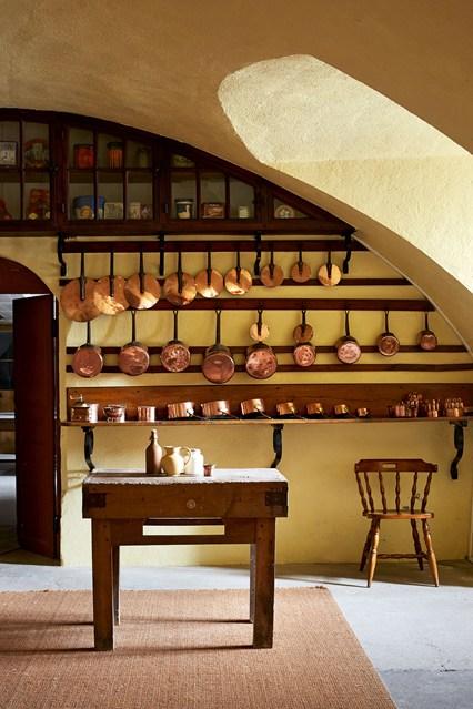 chateau style interior kitchen