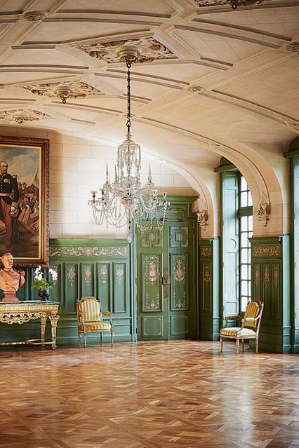 Château de Sully, a castle in Burgundy, France Ballroom