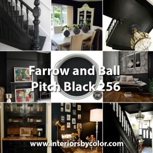 Farrow and Ball Pitch Black 256