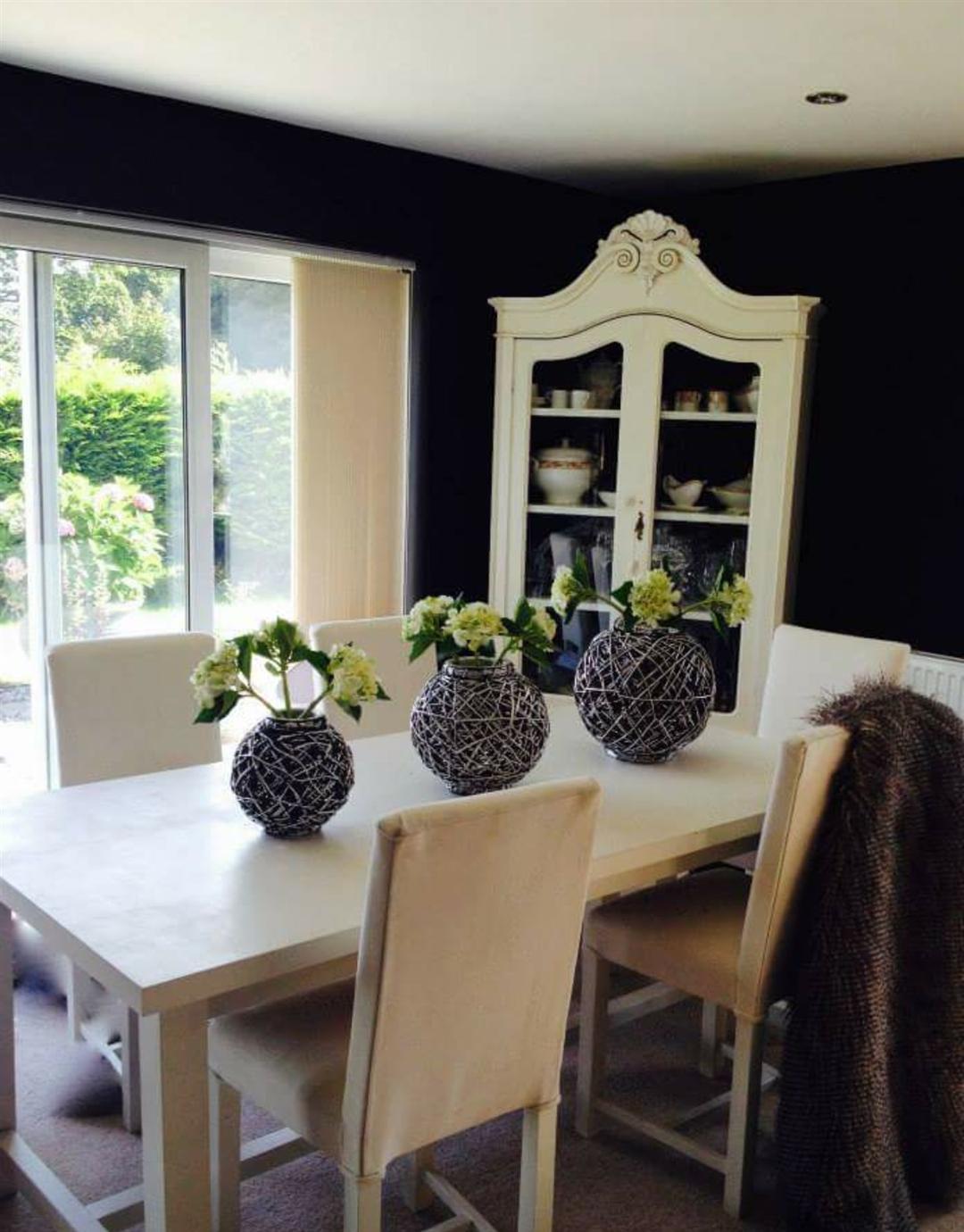 Dark Doors With White Trim Living Rooms