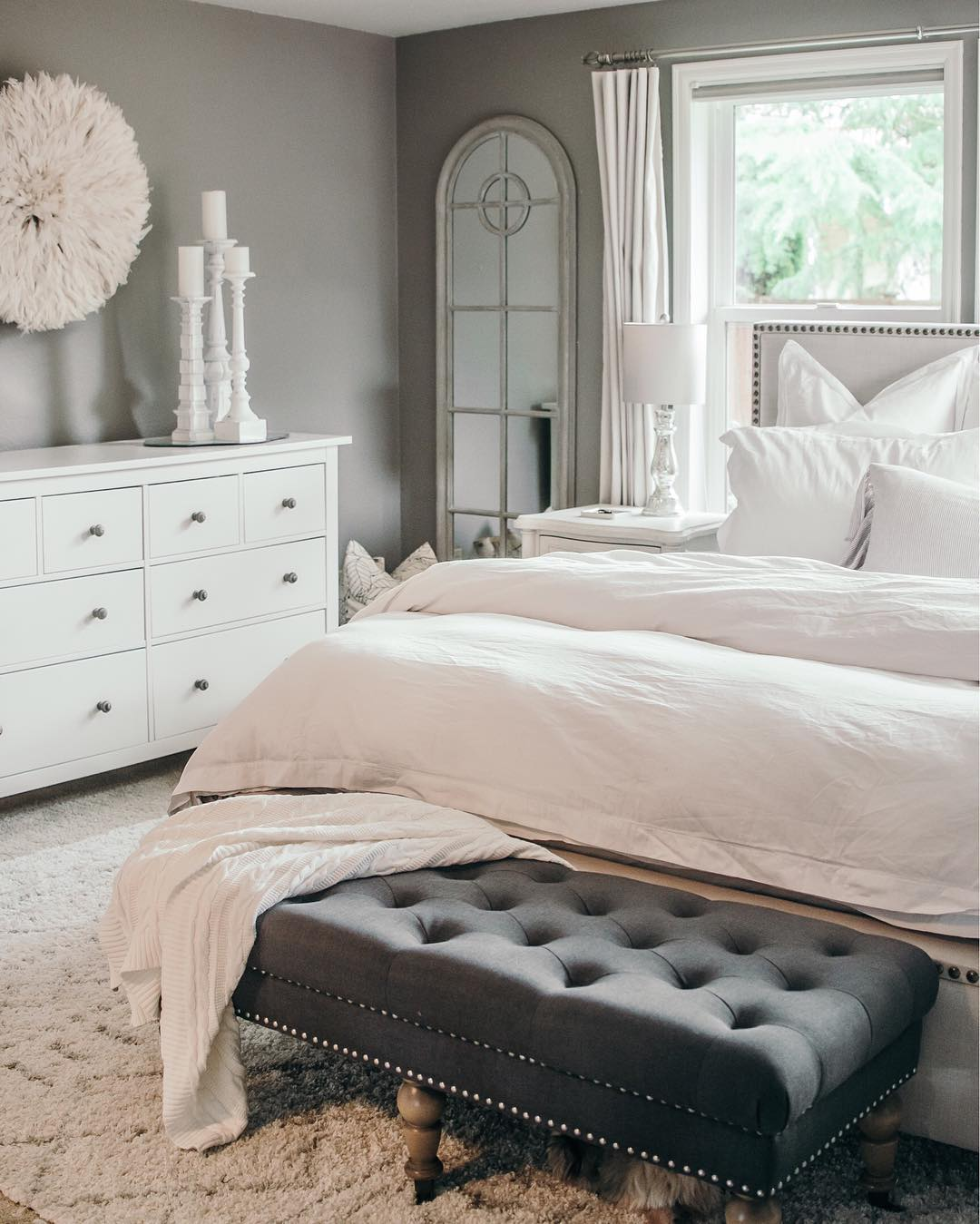 Houses Of Instagram A Bedroom In Calm Tones Of White And