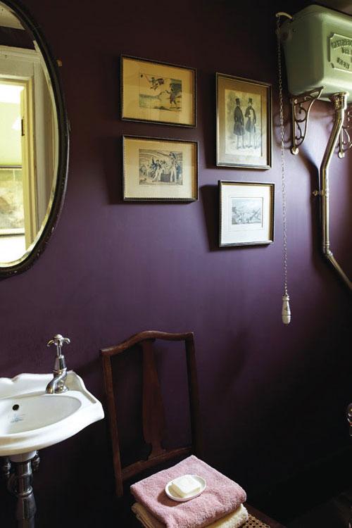 Bathroom in Brinjal No.222 Modern Emulsion