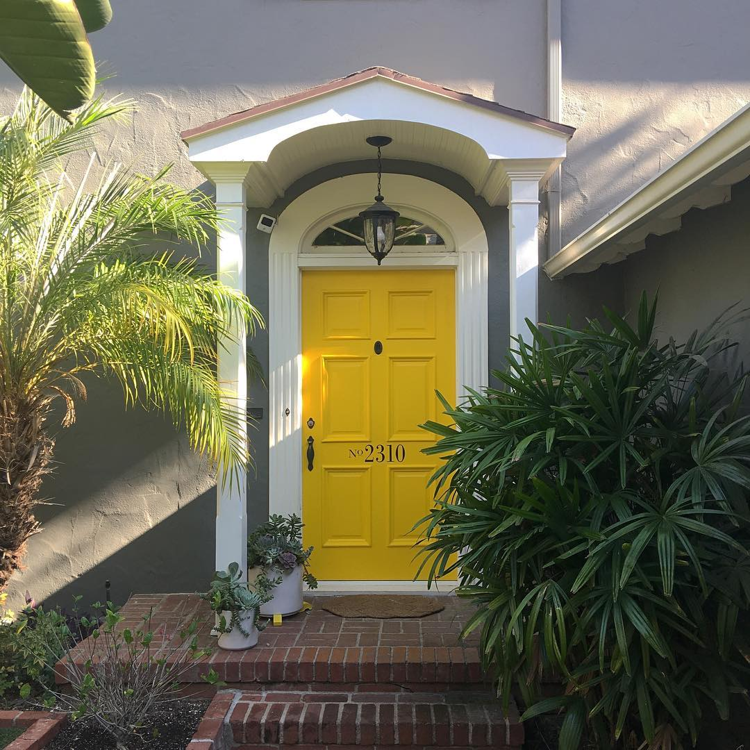 Yellow And Gray Design Paint For The Exterior Your